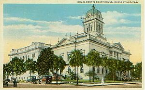 Duval County Courthouse - 1902 Courthouse with 1914 Annex behind