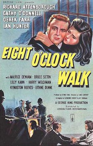 Eight O'Clock Walk - 1954 poster for Eight O'Clock Walk