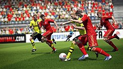 Bundesliga clubs Borussia Dortmund against rivals Bayern Munich in FIFA 14