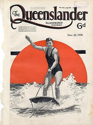 Aquaplaning (sport) - Image: Front cover from The Queenslander, November 22, 1928