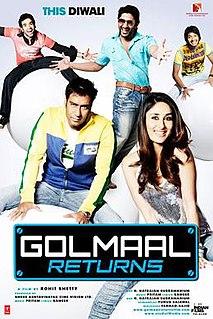 <i>Golmaal Returns</i> 2008 film directed by Rohit Shetty