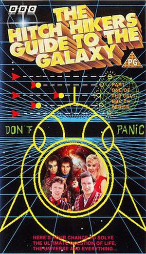 The Hitchhiker's Guide to the Galaxy (TV series) - Front cover of the first part of the UK VHS release of the series.