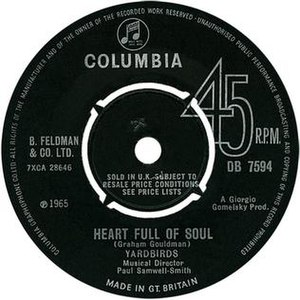 Heart Full of Soul - Image: Heart Full of Soul Yardbirds 45 UK