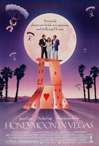 Honeymoon in Vegas - Theatrical release poster