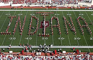 "Indiana University Marching Hundred - The ""Floating Indiana"" formation"