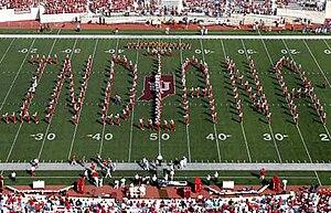 "Indiana University Marching Hundred - The ""Floating Indiana"" formation"