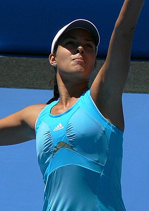 Ana Ivanovic serving in her 2008 Australian Op...