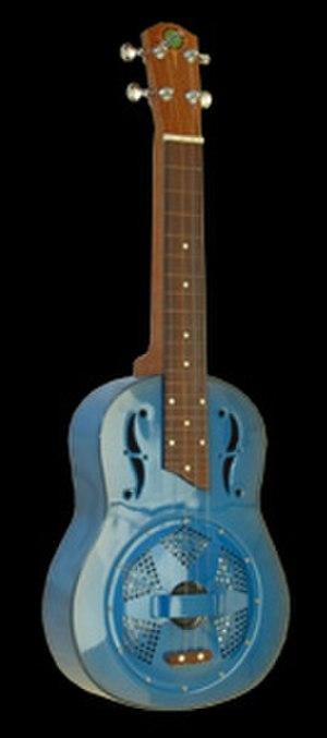 Lap steel ukulele - Image: James Hill Beltona lap steel ukulele