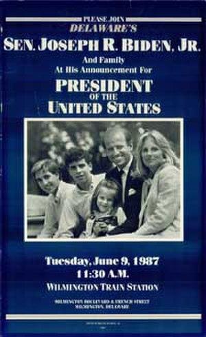 Joe Biden presidential campaign, 1988 - Announcement of Biden's official candidacy