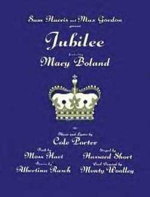 Jubilee (musical) - Original Broadway Poster