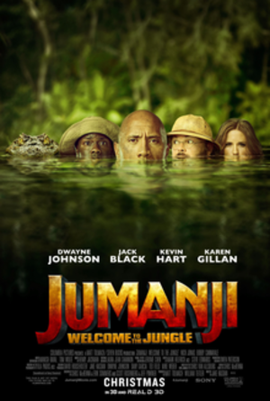 Jumanji: Welcome to the Jungle - Theatrical release poster