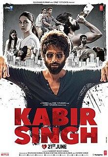 <i>Kabir Singh</i> 2019 film directed by Sandeep Reddy Vanga