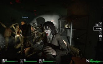 Left 4 Dead - In Left 4 Dead, the four survivors must fight off infected humans while trying to escape or make their way to a safe house.