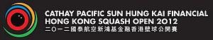 Women's Hong Kong squash Open 2012 - Image: Logo of Hong Kong squash open 2012