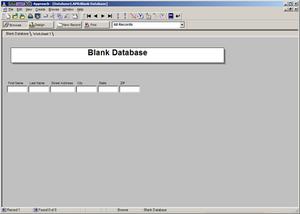 IBM Lotus Approach - Image: Lotus Approach 9.8