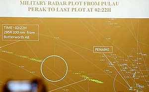 Malaysia Airlines Flight 370 - Image: MH370 radar