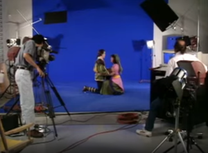 King's Quest VI - Crew filming real-life actors for motion capture in a behind-the-scenes footage of King's Quest VI.