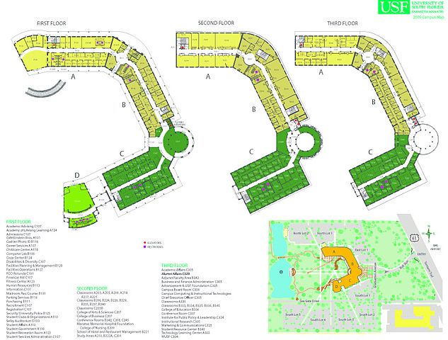 Map Of Florida Sarasota.File Map Seagate Campus 83d40m University Of South Florida Sarasota