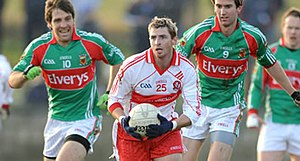 Gerard O'Kane - O'Kane in action against Mayo in the 2009 National League