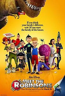 <i>Meet the Robinsons</i> 2007 animated Disney film directed by Stephen J. Anderson