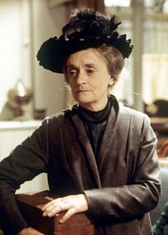 """Patsy Smart - Smart playing Miss Maude Roberts with the jewellery box of Lady Marjorie Bellamy  in Upstairs, Downstairs episode """"A House Divided"""")"""