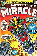 Cover to Mister Miracle #1 (April 1971), written and drawn by Jack Kirby