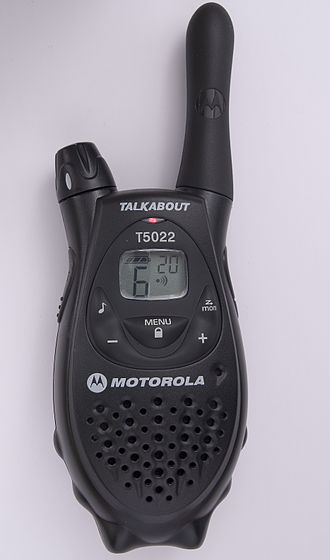 Personal radio service - A personal radio service handheld radio; this one is for use with the European PMR446 service