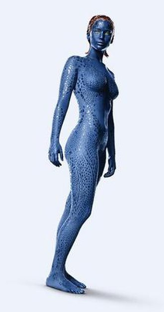 Mystique (comics) - Jennifer Lawrence as Mystique in the 2014 film X-Men: Days of Future Past