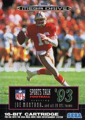 NFL Sports Talk Football '93 - European cover art