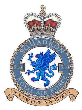 No. 210 Squadron RAF - Image: No. 210 Squadron RAF