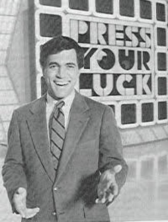 Press Your Luck - Peter Tomarken on the set of Press Your Luck for the 1983 pilot.