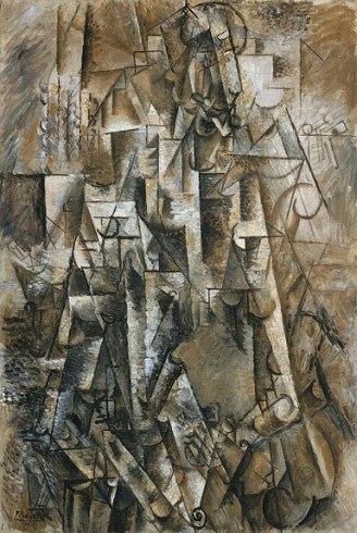 Pablo Picasso, 1911, The Poet (Le poète), Céret, oil on linen, 131.2 × 89.5 cm, The Solomon R. Guggenheim Foundation, Peggy Guggenheim Collection, Venice