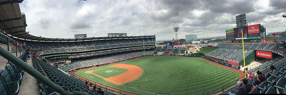 Panoramic view inside Angel Stadium, Anaheim