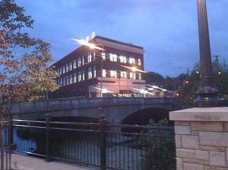 New Castle, Pennsylvania - The Pier I Complex Building in downtown New Castle