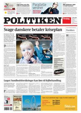 Politiken - Image: Politiken front page