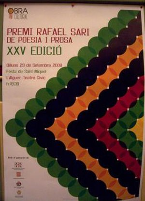 Algherese dialect - Poster for the Premi Rafael Sari 2008