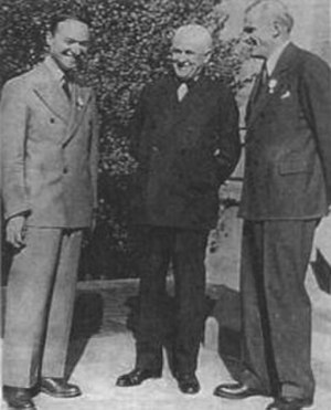 Bruno Rossi - At the Rome conference on nuclear physics in 1931, Rossi met Robert Millikan and Arthur Compton.