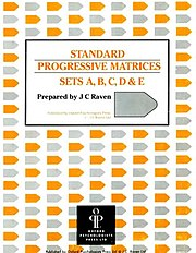 The cover of a test booklet for Raven's Standard Progressive Matrices