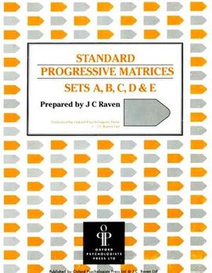 Raven's Progressive Matrices - The cover of a test booklet for Raven's Standard Progressive Matrices