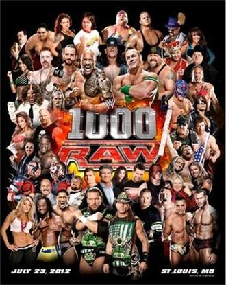 WWE Raw 1000 - Promotional poster for the 1000th episode of Raw