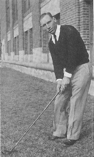 Ray Courtright - Ray Courtright, University of Michigan golf coach, 1934