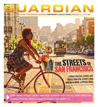 San Francisco Bay Guardian - Image: San Francisco Bay Guardian (front page)