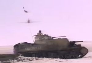 Sahara (1995 film) - The desert duel in Sahara between Lulu Belle and a Luftwaffe aircraft featured a period-accurate aircraft and tank.
