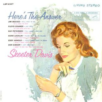 Here's the Answer - Image: Skeeter Davis Here's the Answer