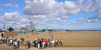 Skegness seafront and Pier Skegness beach.jpg