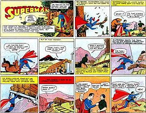 Superman (comic strip) - First Superman Sunday strip (November 5, 1939).