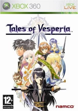 Tales of Vesperia - PAL region cover art, featuring the main cast.
