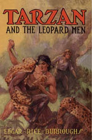 Tarzan and the Leopard Men - Dust-jacket illustration of Tarzan and the Leopard Men