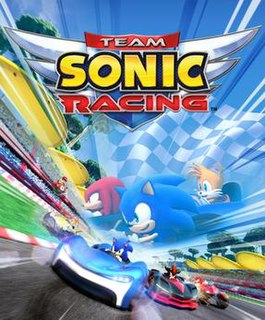 <i>Team Sonic Racing</i> 2019 kart racing video game developed by Sumo Digital