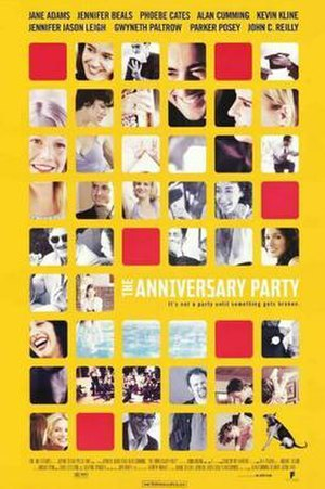 The Anniversary Party - Theatrical release poster